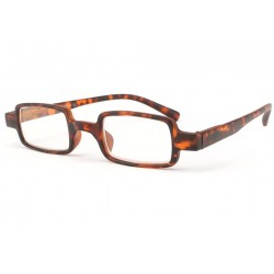 Lunette loupe rectangle marron ecaille Pavy