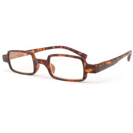 Lunette loupe rectangle marron ecaille Pavy Lunette Loupe New Time