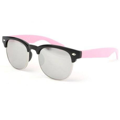 Lunette soleil enfant rose et noire miroir Club 6 a 12 ans Enfant Eye Wear