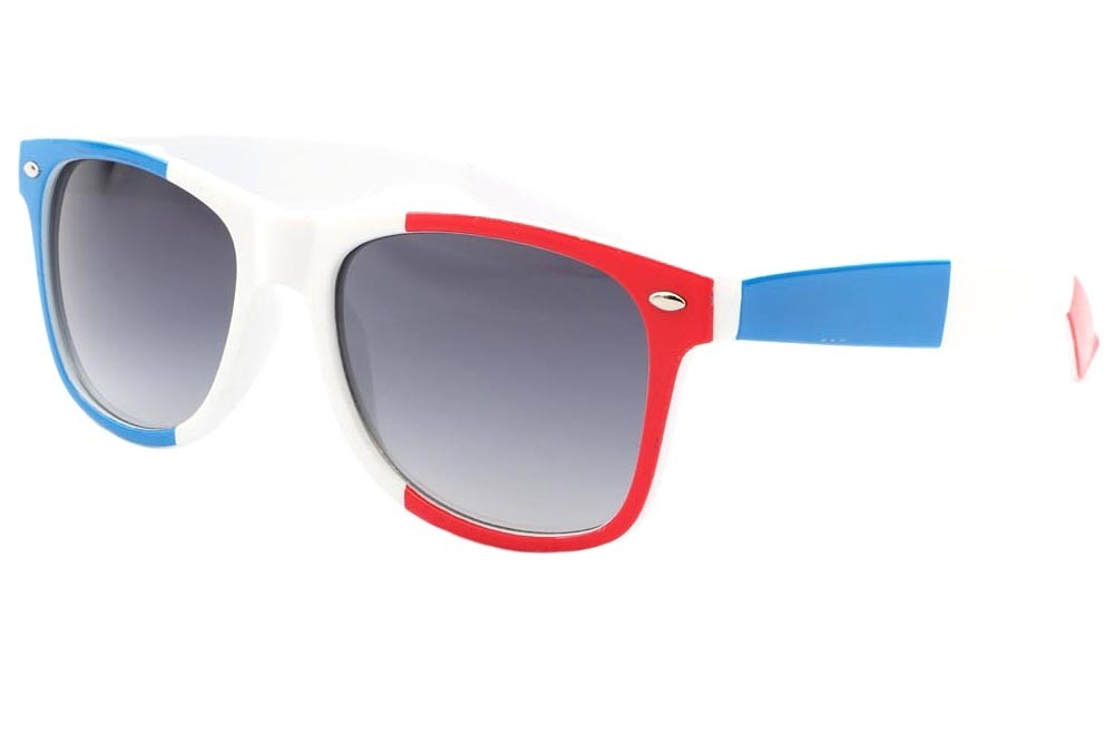 8a680cf7f7f85 Lunette Soleil France Drapeau Bleu Blanc Rouge Pays Supporter Eye Wear