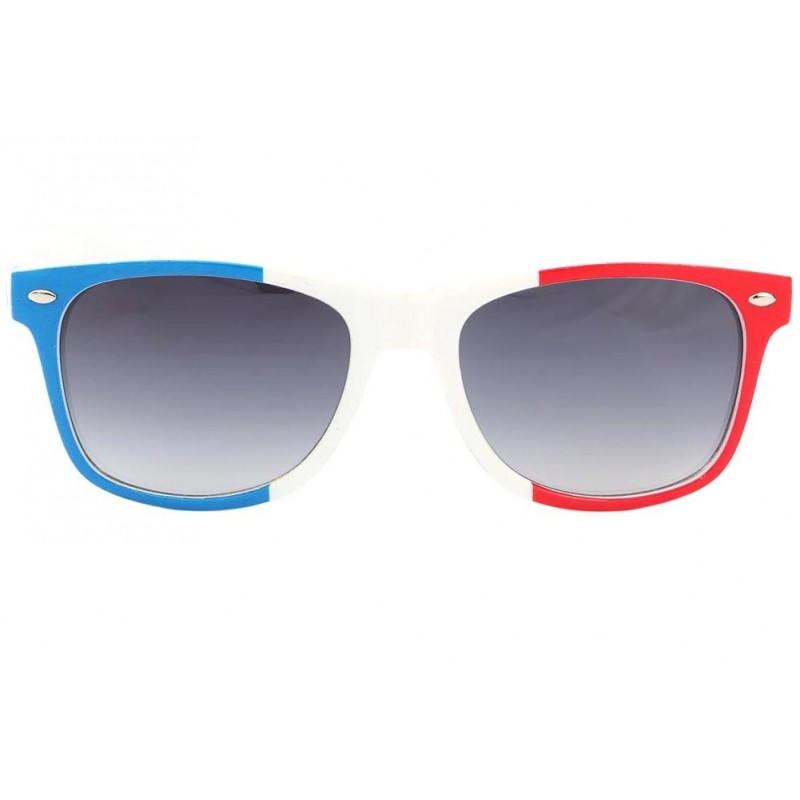 de610ff464ee2 ... Lunette Soleil France Drapeau Bleu Blanc Rouge Pays Supporter Eye Wear  ...