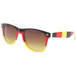 Lunette soleil Allemagne drapeau noir rouge or