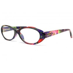Lunette loupe fantaisie rose bleu Nessy