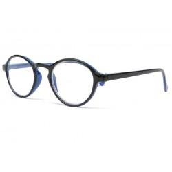 Lunette loupe ronde bleu et noire Read