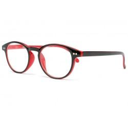 Lunette loupre ronde rouge et noir Read