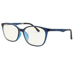Lunette ecran bleu rectangle luxe Passy