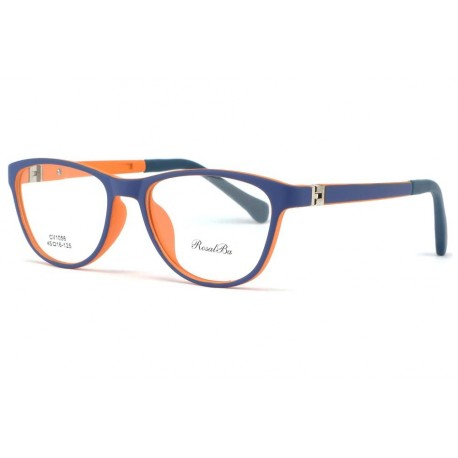Monture enfant bleue orange Teen 7 à 12 ans Monture Enfant Rosalba