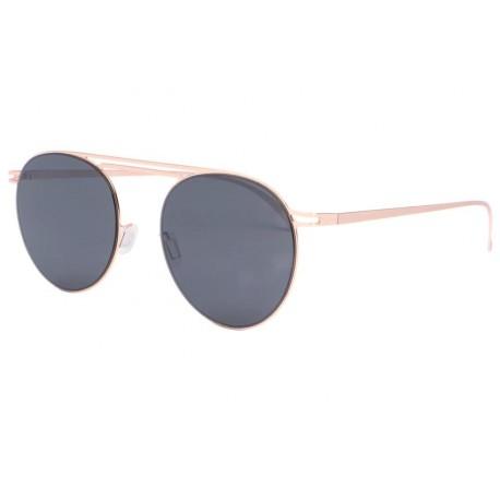 Lunette soleil dorée tendance luxe Muka Lunettes de Soleil Eye Wear