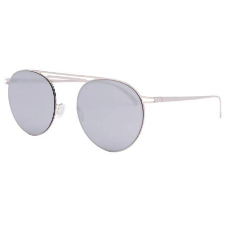 Lunette soleil miroir gris tendance luxe Muka Lunettes de Soleil Eye Wear
