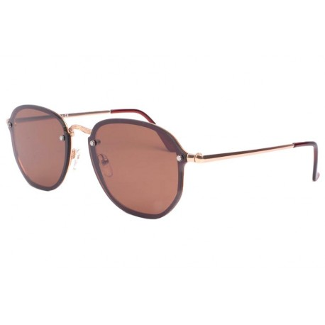 Lunette de soleil dorée verre marron tendance Morys Lunettes de Soleil Eye Wear