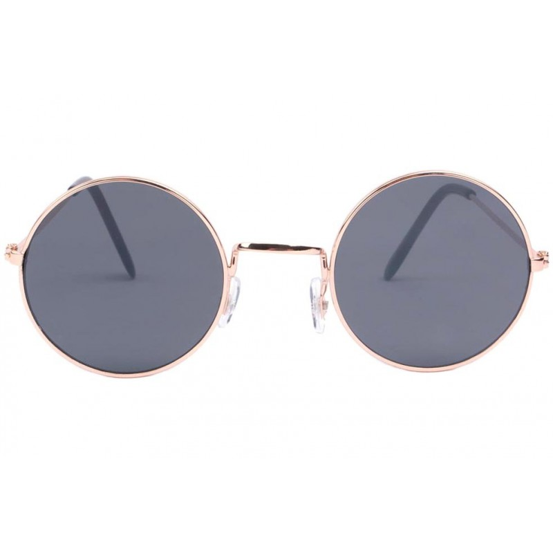 Favoris Petite lunette de soleil ronde dorée, lunette soleil fashion livré 48h TE16