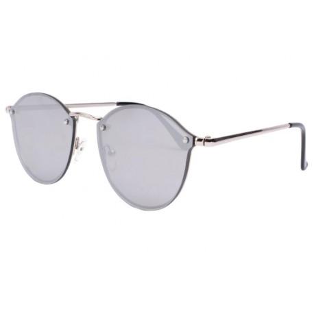 Lunette de soleil miroir argent tendance Pazza Lunettes de Soleil Eye Wear