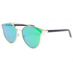 Lunette soleil femme miroir vert tendance Miora