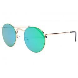 Lunettes soleil rondes miroir bleu vert Sunny