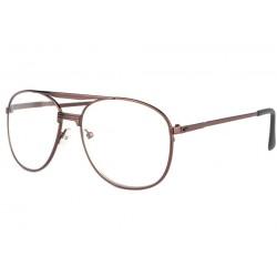 Grandes lunettes loupe métal marron Optya Lunette Loupe New Time