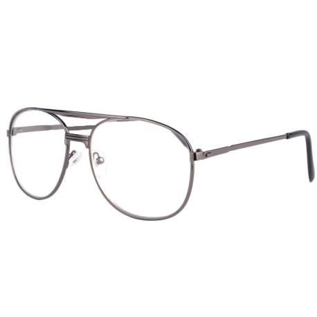 Grandes lunettes loupe métal marron Optya
