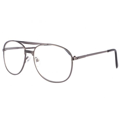 Grandes lunettes loupe métal noires Optya