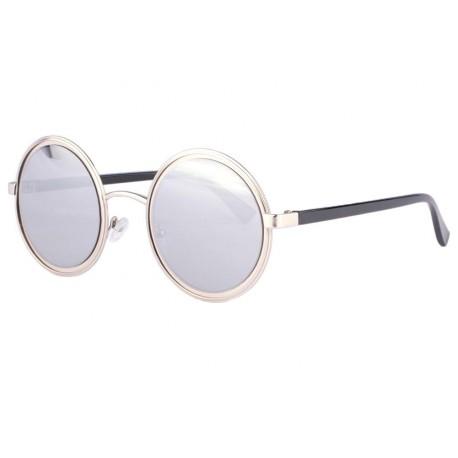 Lunettes soleil miroir argent rondes tendance Olvay anciennes collections divers