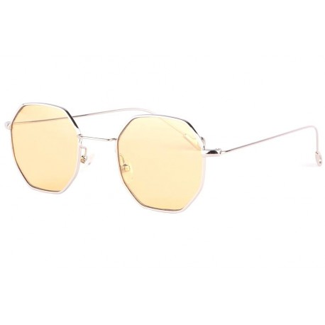 Lunettes soleil octogonales jaunes fashion Eighty anciennes collections divers