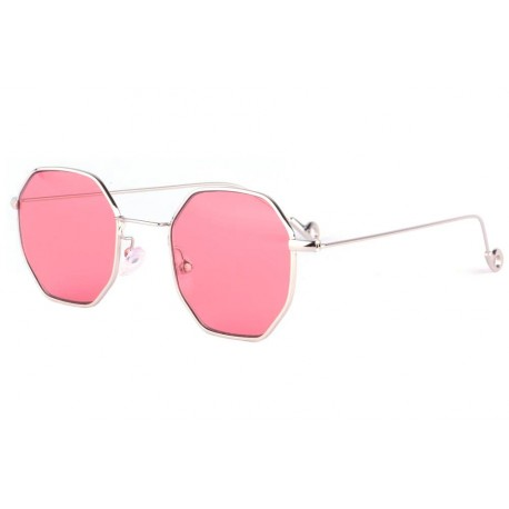 Lunettes soleil octogonales rouges fashion Eighty anciennes collections divers