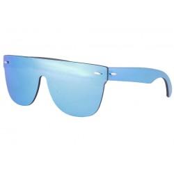 Lunettes soleil masque miroir bleu fashion Kryst