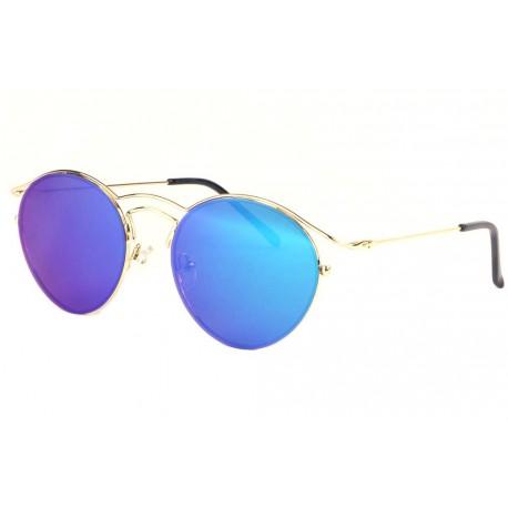Lunettes de soleil rondes miroir bleu Myka anciennes collections divers