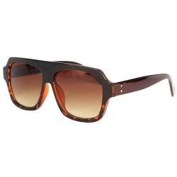 Grosses lunettes soleil Marron Fashion Wesley