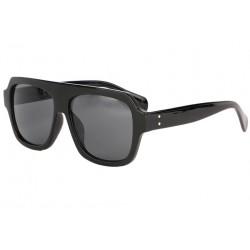 Grandes lunettes soleil Noires Fashion Wesley