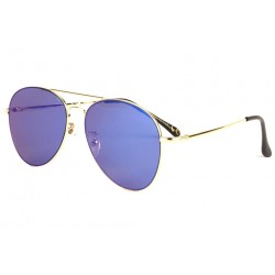 Lunettes de soleil aviateur miroir bleu Morz