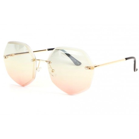 Grandes lunettes soleil femme fashion rose et jaune Daisy Lunettes de Soleil Spirit of Sun