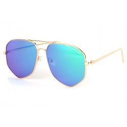 Lunettes soleil aviateur miroir bleu fashion Garyo