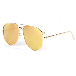 Lunettes soleil aviateur miroir rose dore Garyo