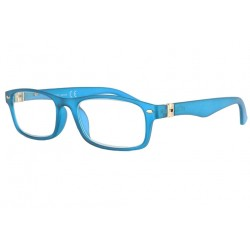 Lunettes lecture bleues rectangles classe Lectya Lunette Loupe New Time