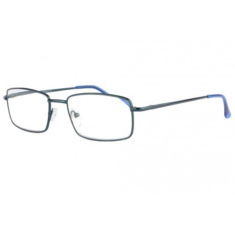 Lunette lecture bleue rectangle metal Marty Lunette Loupe New Time