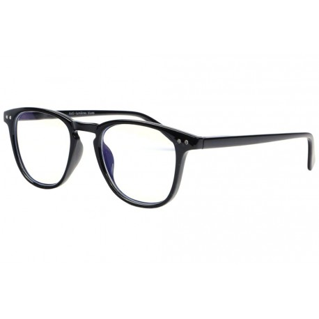 Lunette lumiere bleue rectangle noir Ordsee Lunette écran New Time