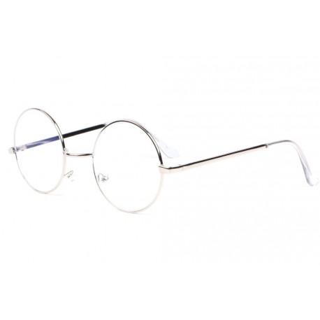 Grosses lunettes anti lumiere bleue ronde grise metal Geektek Lunette écran New Time
