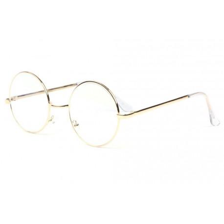 Grosses lunettes anti lumiere bleue doree metal Geektek Lunette écran New Time