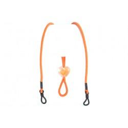 Cordon lunettes orange reglable fantaisie elastique Accesoires lunettes Loupea