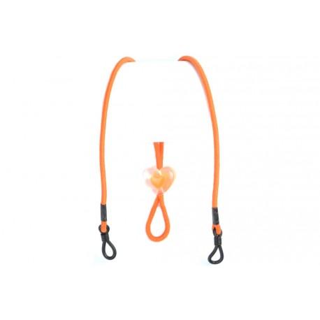 Cordon lunettes orange reglable fantaisie elastique Accessoires lunettes Loupea