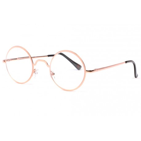 Lunettes loupe rondes dorees metal vintage Leny Lunette Loupe New Time