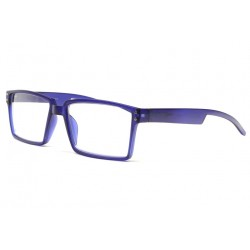 Lunettes loupes tendance bleues rectangles Saty Lunette Loupe New Time