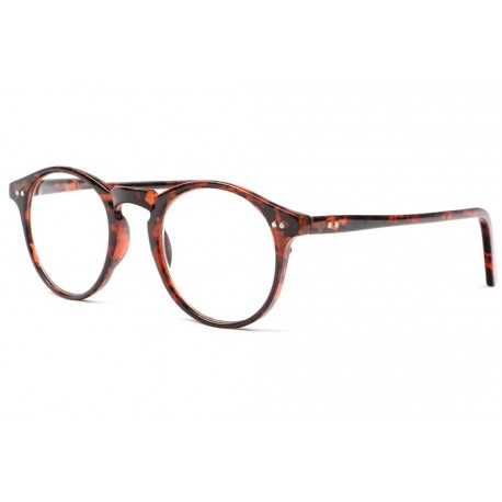 Lunettes loupe retro rondes marron Koff Lunette Loupe New Time
