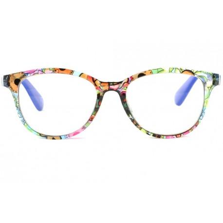 Lunettes loupe fantaisie bleues, lunettes