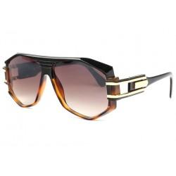Grosses lunettes de soleil Fashion Marron Noir Stall Lunettes de Soleil SOLEYL