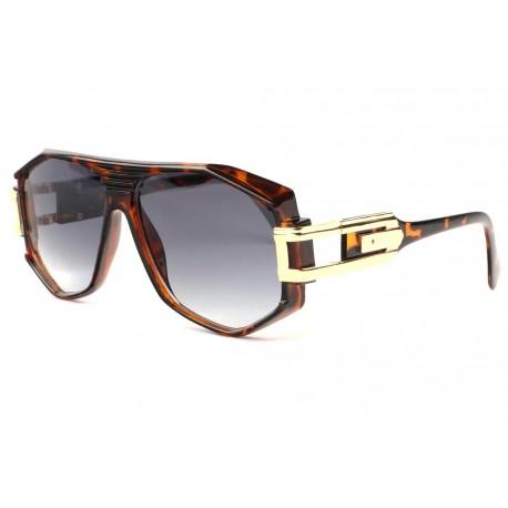 Grosses lunettes de soleil Fashion Marron Dore Stall Lunettes de Soleil SOLEYL