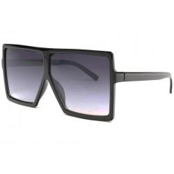 Tres grandes lunettes de soleil Noires Fashion Yek