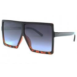 Tres grandes lunettes de soleil Fashion Marron Yek Lunettes de Soleil Eye Wear