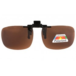 Clip Solaire Polarisé surlunettes de soleil Marron Rik Accessoires lunettes Loupea