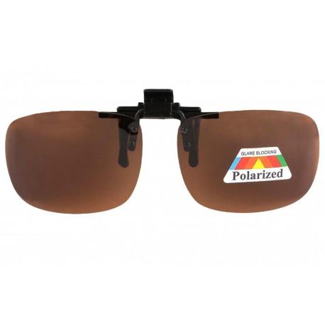 3 Clips solaires pour lunettes SurLunettes à Clipser Homme Femme 1 Clip verres jaunes polarisées vision de nuit 1 clip solaire polarisant Marron 1