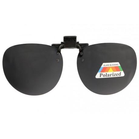 Clip Solaire Polarisé rond surlunettes de soleil Noir Zek Accessoires lunettes Loupea